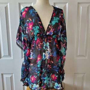 Bright Floral Swim Cover Up